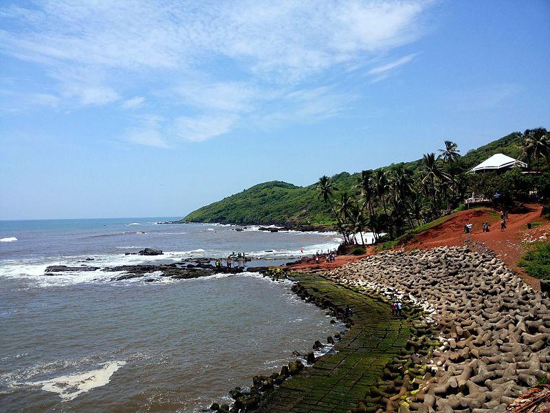 famous anjuna beach in goa