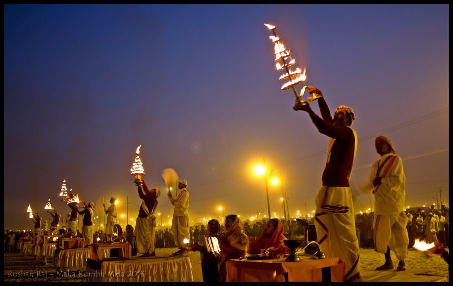 Ganga Aart during Maha Kumbh Mela
